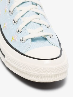 Converse Blue Chuck 70 Floral High Top Sneakers