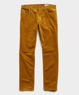 Todd Snyder Slim Fit 5-Pocket Italian Cord in Yellow