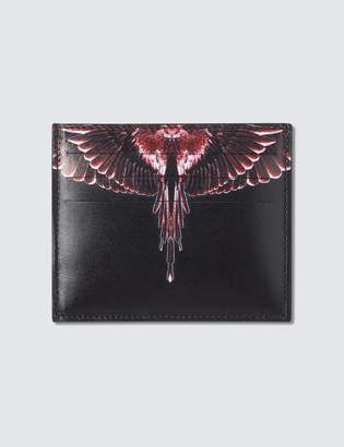 Marcelo Burlon County of Milan Red Ghost Wings Card Holder