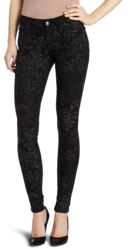 7 For All Mankind Women's Skinny Jean in Black and Grey