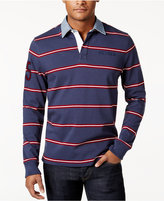 Tommy Hilfiger Men's Big & Tall Conen Striped Rugby Shirt