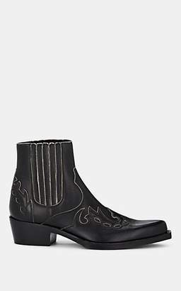 Calvin Klein Men's Cal Calvert Distressed Leather Boots