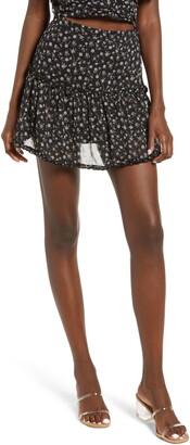 Lulus Miya Ruffled Miniskirt