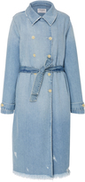 Frame Double-Breasted Denim Trench Coat