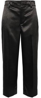 Vince Cropped Satin-crepe Wide-leg Pants