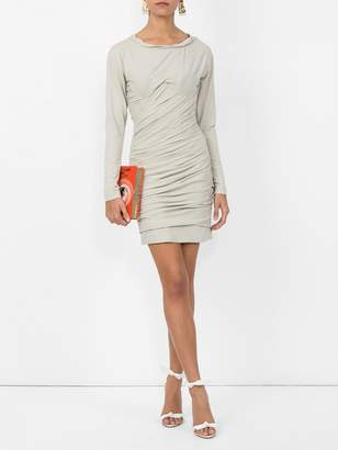 Alexander Wang bustier ruched mini dress grey