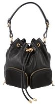 Badgley Mischka Leather Drawstring Bag