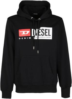 Diesel Spliced Logo Hoodie