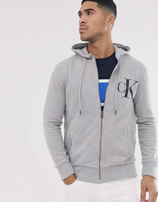 Calvin Klein Jeans Calvin Klein true icon zip thru knitted hoodie-Grey
