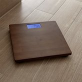 Crate & Barrel Dixon Bamboo Bathroom Scale