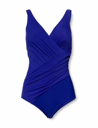 Miraclesuit Women's Maillot De Bain Sculptant Une Piece-Mirabasic-Athena-Bleu-Miradonna One Piece Swimsuit