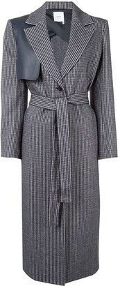 Agnona Houndstooth-Pattern Single-Breasted Coat