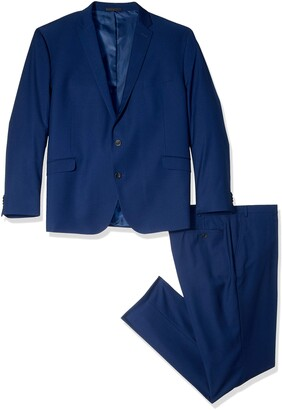 Kenneth Cole Reaction Men's Slim Fit Performance Suit in Extended sizes