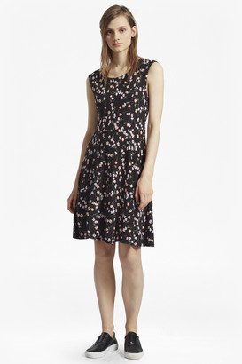 French Connection Botero Ponte Jersey Printed Dress