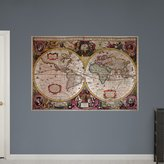 Fathead 37-19009 Wall Decal, a New Land and Water Map of the Entire Earth by Henricus Hondius