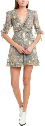 The Kooples Silk-Blend Wrap Dress
