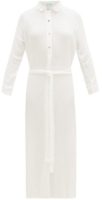 Melissa Odabash Alesha Belted Voile Shirt Dress - White