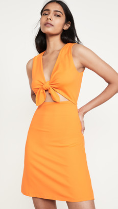 Susana Monaco Bow Front Sleeveless Cutout Dress