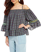 Takara Off-the-Shoulder Printed Top