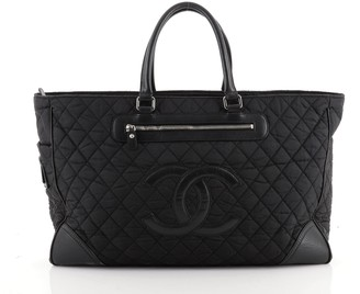 Chanel CC Tote Quilted Nylon Medium