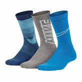 Nike Performance 3 Pack Graphic Crew Socks - Boys