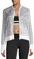 Blanc Noir Feather Weight Stripe-Print Jacket