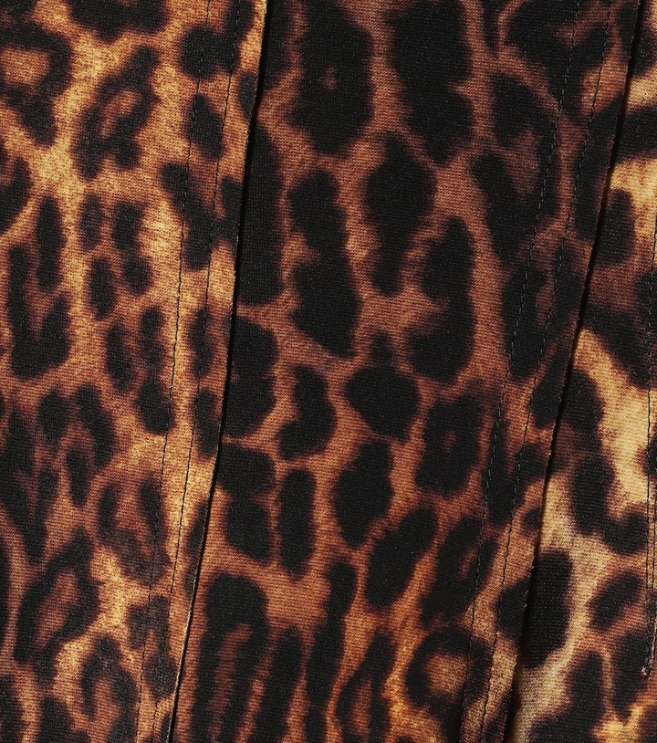 Thumbnail for your product : Norma Kamali Grace leopard-print midi skirt