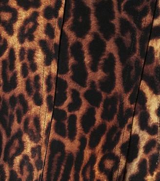 Norma Kamali Grace leopard-print midi skirt
