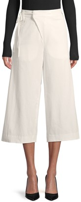 Vince Self-Tie Waist Wide-Leg Cotton Pants