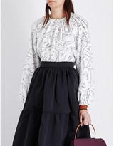 Roksanda Wallasley silk-twill blouse