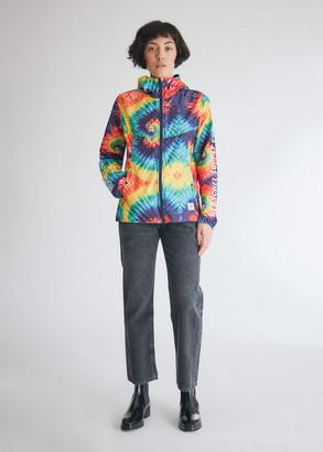 Herschel Women's Packable Windbreaker Jacket in Rainbow Tie Dye, Size Extra Small