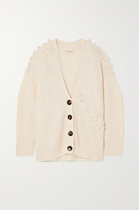 LOULOU STUDIO Asinara Oversized Ribbed Wool And Cashmere-blend Cardigan - Cream