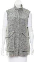 Lela Rose Bouclé Zip-Up Vest