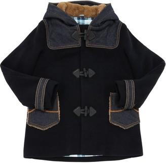 Jacob Cohen Hooded Wool Blend Coat