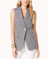 MICHAEL Michael Kors Gingham-Print Vest, Created for Macy's