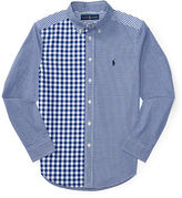 Ralph Lauren 8-20 Patchwork Cotton Poplin Shirt