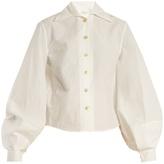 Lemaire Balloon-sleeve cotton-poplin shirt