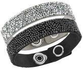 Swarovski Crystal Rock and Alcantara and Microfiber Bracelet Set - 2