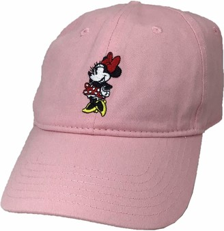 Disney Women's Minnie Mouse Embroidered Curved Brim 6 Panel DAD Cap