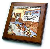 3dRose LLC ft_1470_1 Londons Times Funny Dogs Cartoons - Canine Pickup Joints - Framed Tiles