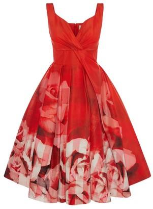 Alexander McQueen Floral Midi Dress