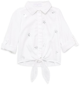 Bella Dahl Little Girl's & Girl's Tie-Front Star Shirt