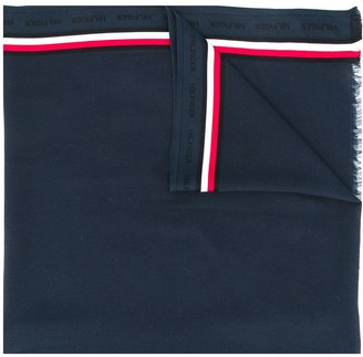 Tommy Hilfiger Logo Stripe Embroidered Scarf