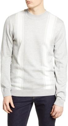 Topman Stripe Mock Neck Sweater