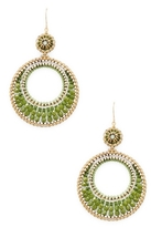 Miguel Ases Expanding Circle Drop Earrings