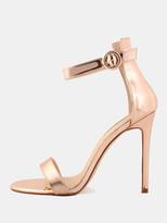Shein Open Toe Metallic Single Sole Heels ROSE GOLD