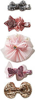 Starting Out Baby Girls 5-Pack Glitter Mini Hair Clips