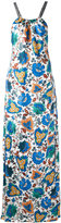 Oscar de la Renta floral print dress - women - Silk - 4