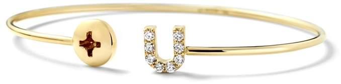Alison Lou 14K Gold Screw U Cuff