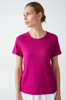 Cos Linen Relaxed T-Shirt